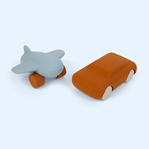 Mustard/Sea Blue Mix Liewood Kevin Car & Airplane 2 Pack