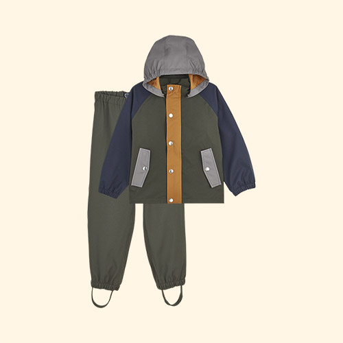 Hunter Green Multi Mix Liewood Parker Rainwear