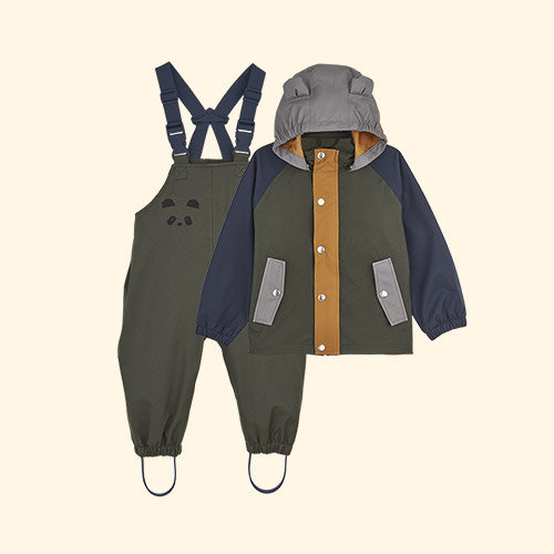 Hunter Green Multi Mix Liewood Dakota Rainwear