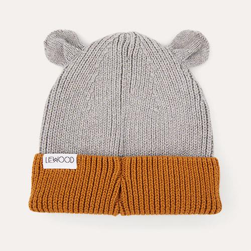 Grey Melange/Golden Caramel Mix Liewood Gina Beanie Hat