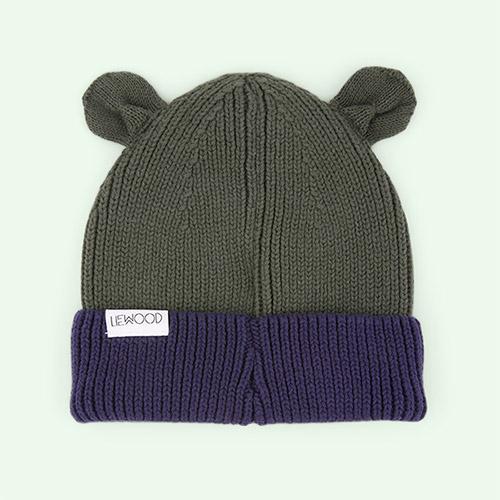 Navy/Hunter Green Mix Liewood Gina Beanie Hat