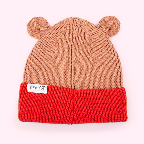 Tuscany Rose/Apple Red Mix Liewood Gina Beanie Hat