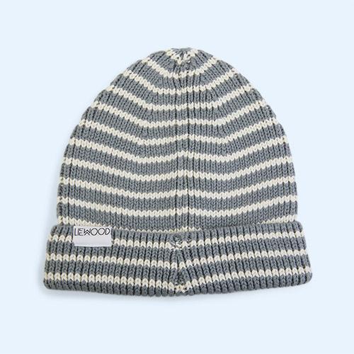 Blue Fog/Creme de la Creme Liewood Ezra Beanie Hat