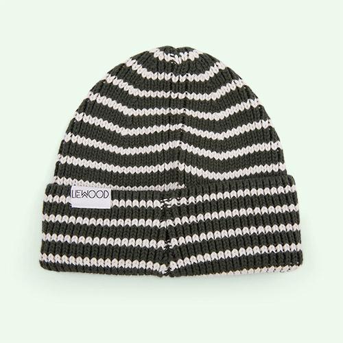 Hunter Green/Creme de la Creme Liewood Ezra Beanie Hat