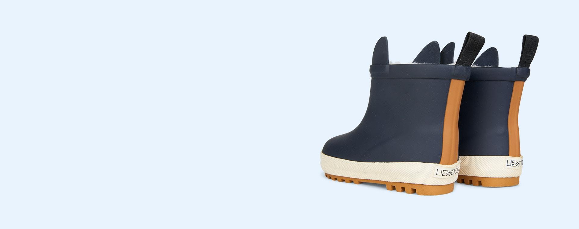 Navy/Creme De La Creme Mix Liewood Jesse Thermo Rain Boot