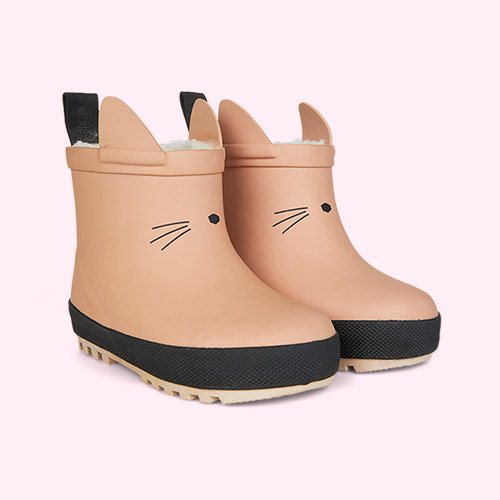 Dark Rose/Black Mix Liewood Jesse Thermo Rain Boot