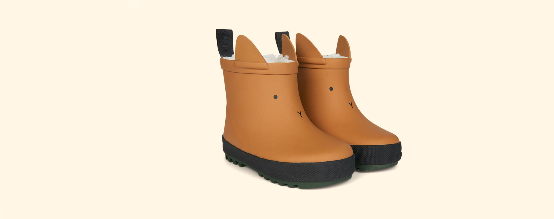 Mustard/Black Mix Liewood Jesse Thermo Rain Boot
