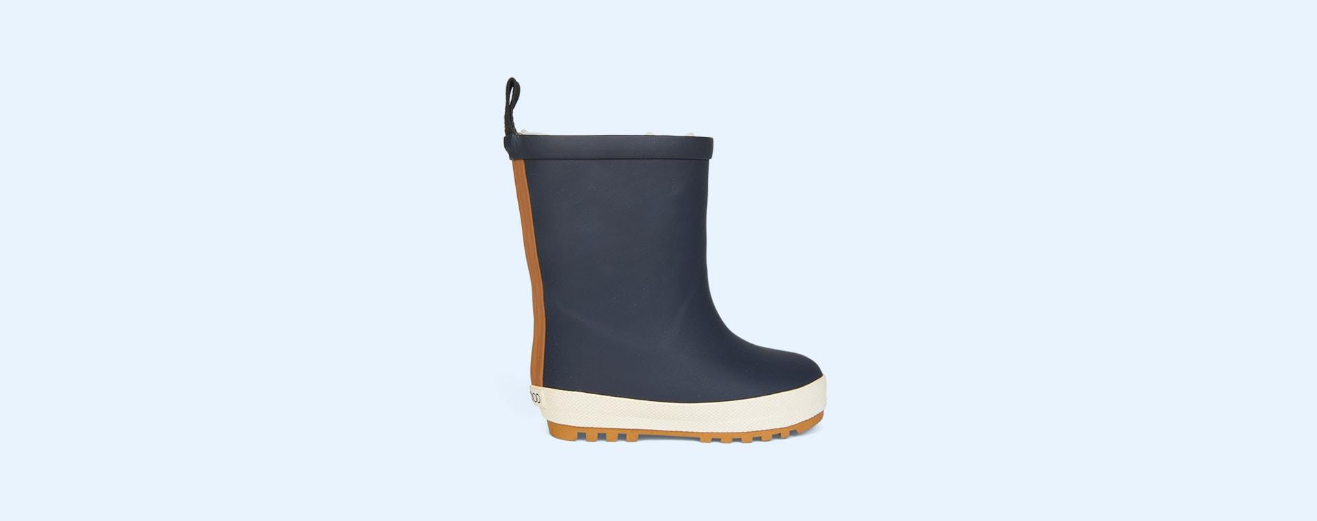 Navy/Creme De La Creme Mix Liewood Mason Thermo Rain Boot