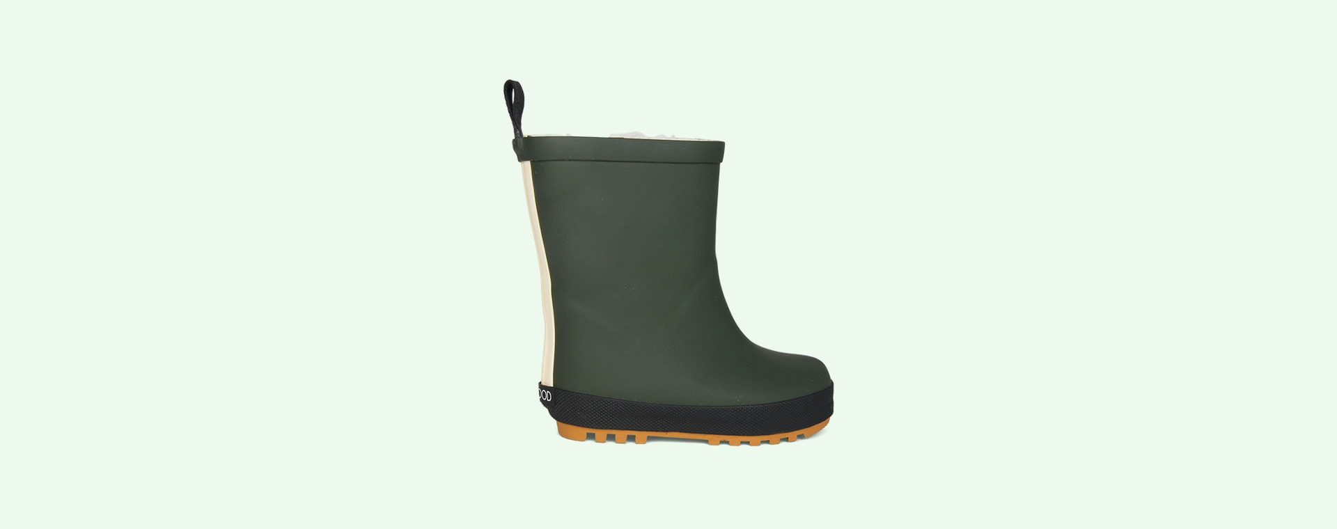 Hunter Green/Black Mix Liewood Mason Thermo Rain Boot
