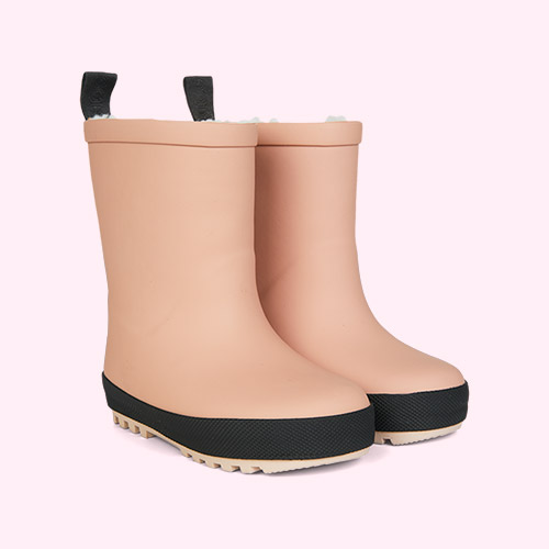 Dark Rose/Black Mix Liewood Mason Thermo Rain Boot