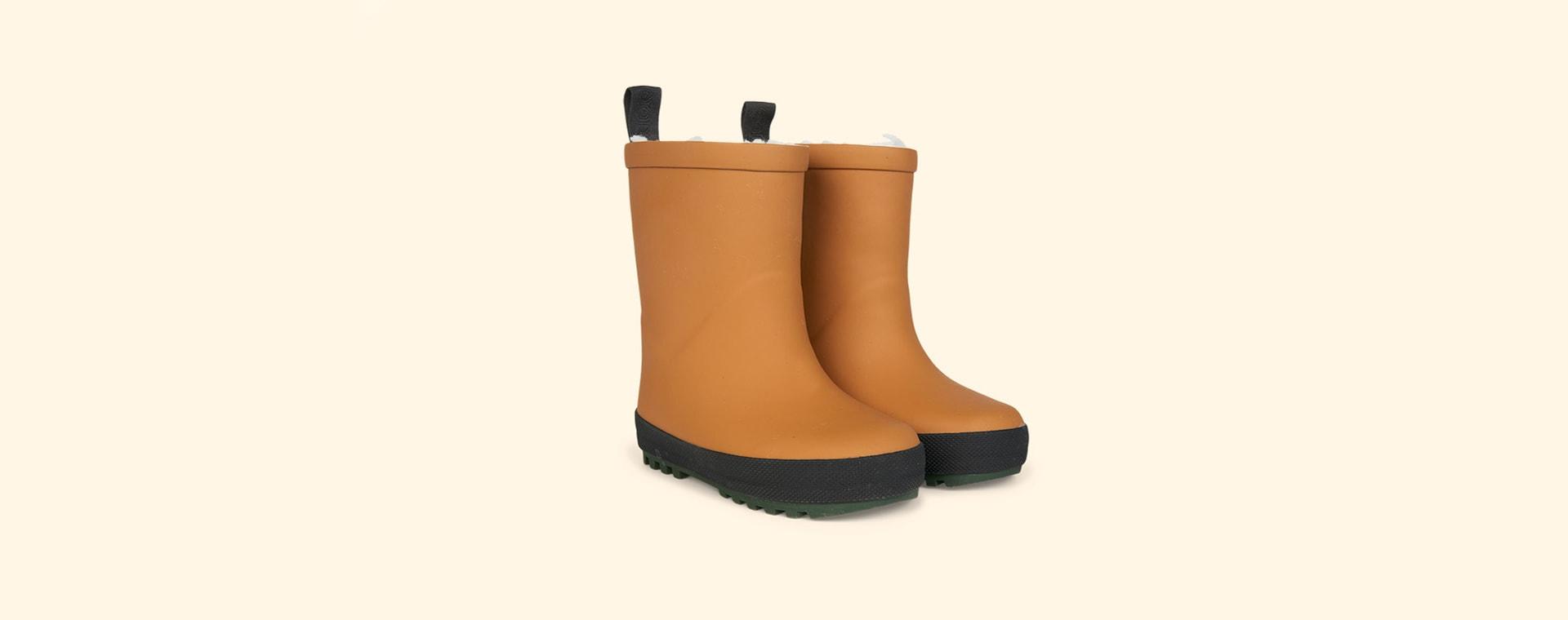 Mustard/Black Mix Liewood Mason Thermo Rain Boot