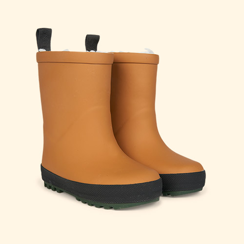 Mustard/Black Mix Liewood Mason Thermo Rain Boot