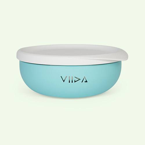 Turquoise Green VIIDA Soufflé Antibacterial Stainless Steel Bowl