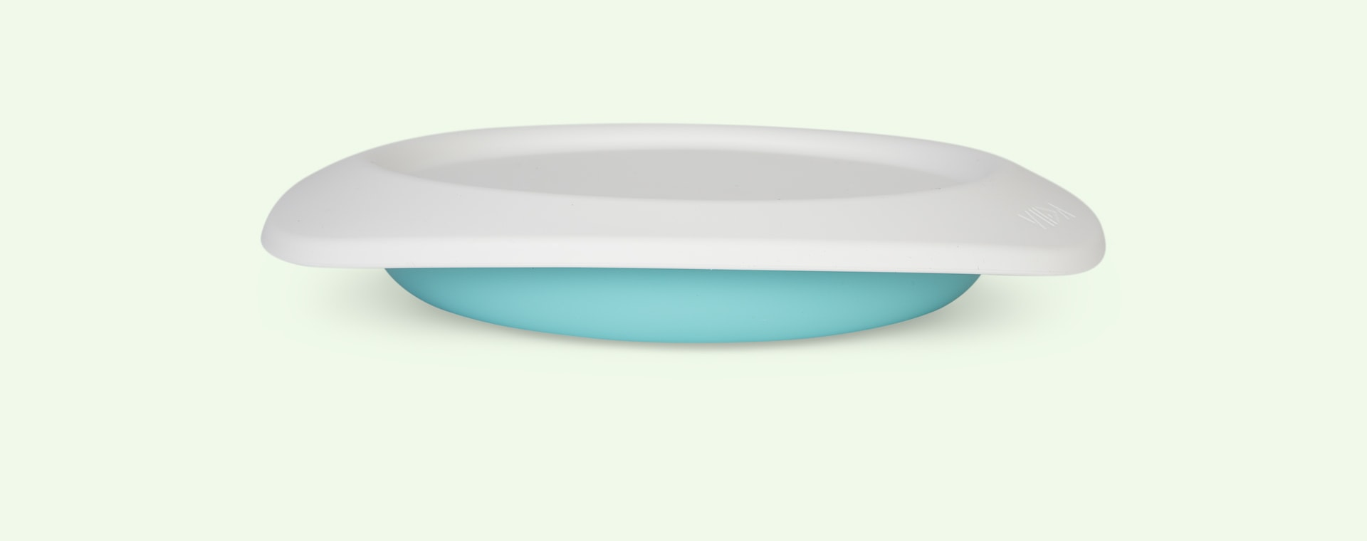 Turquoise Green VIIDA Soufflé Antibacterial Stainless Steel Plate