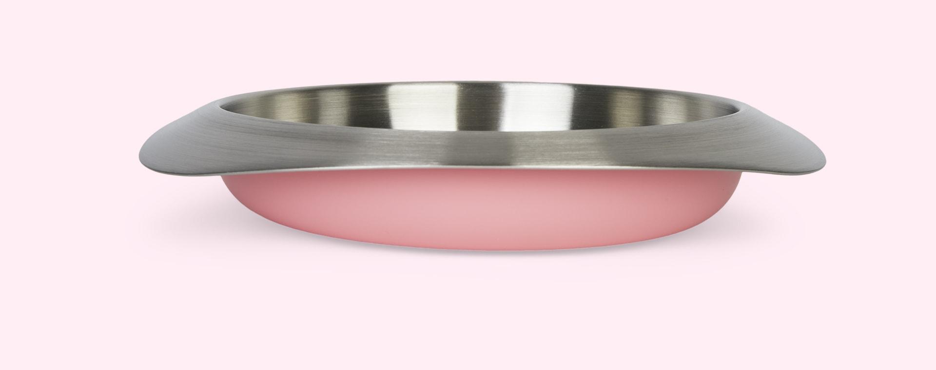 Taffy Pink VIIDA Soufflé Antibacterial Stainless Steel Plate