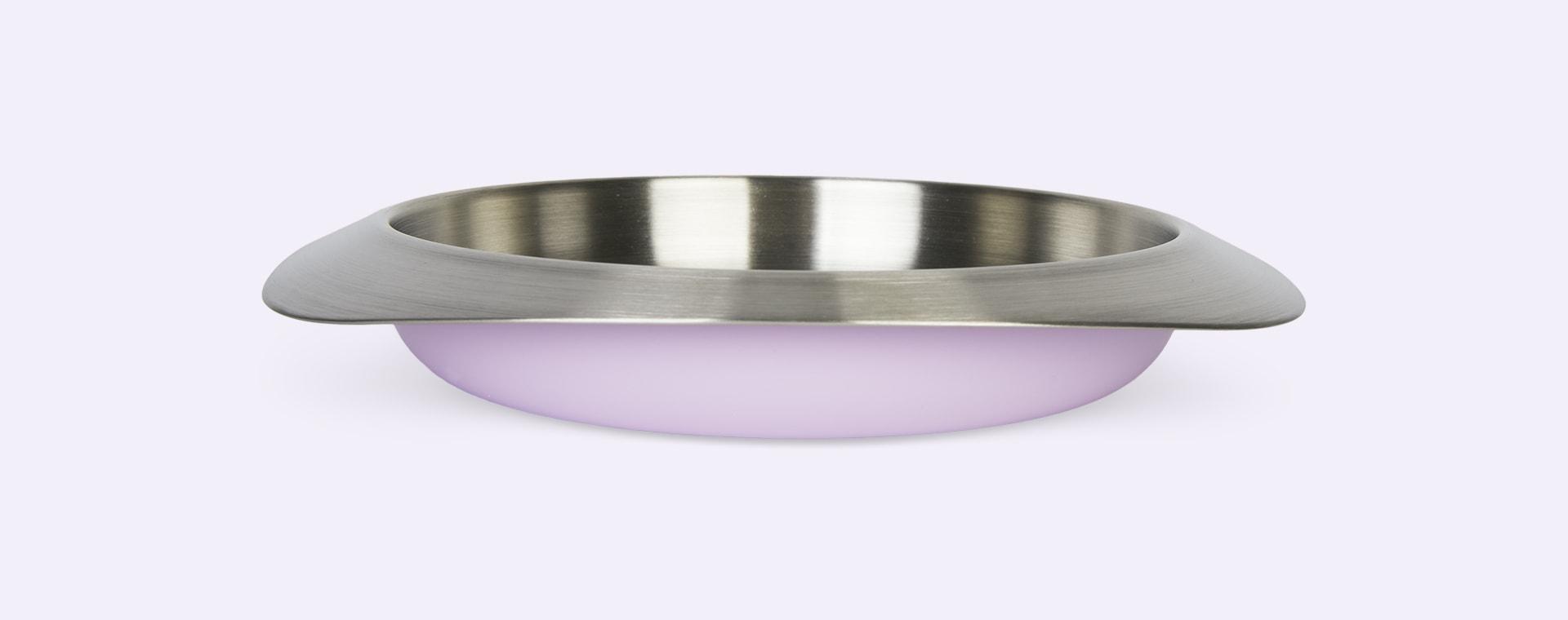 Lavender Purple VIIDA Soufflé Antibacterial Stainless Steel Plate