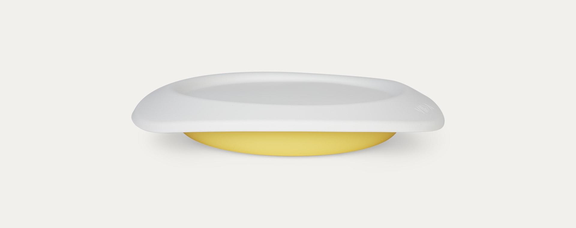 Lemon Yellow VIIDA Soufflé Antibacterial Stainless Steel Plate