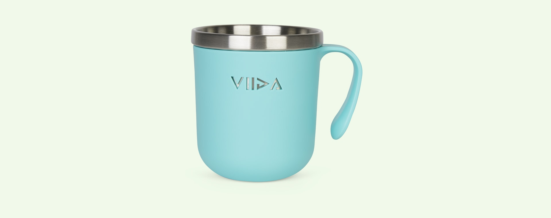 Turquoise Green VIIDA Soufflé Antibacterial Stainless Steel Cup