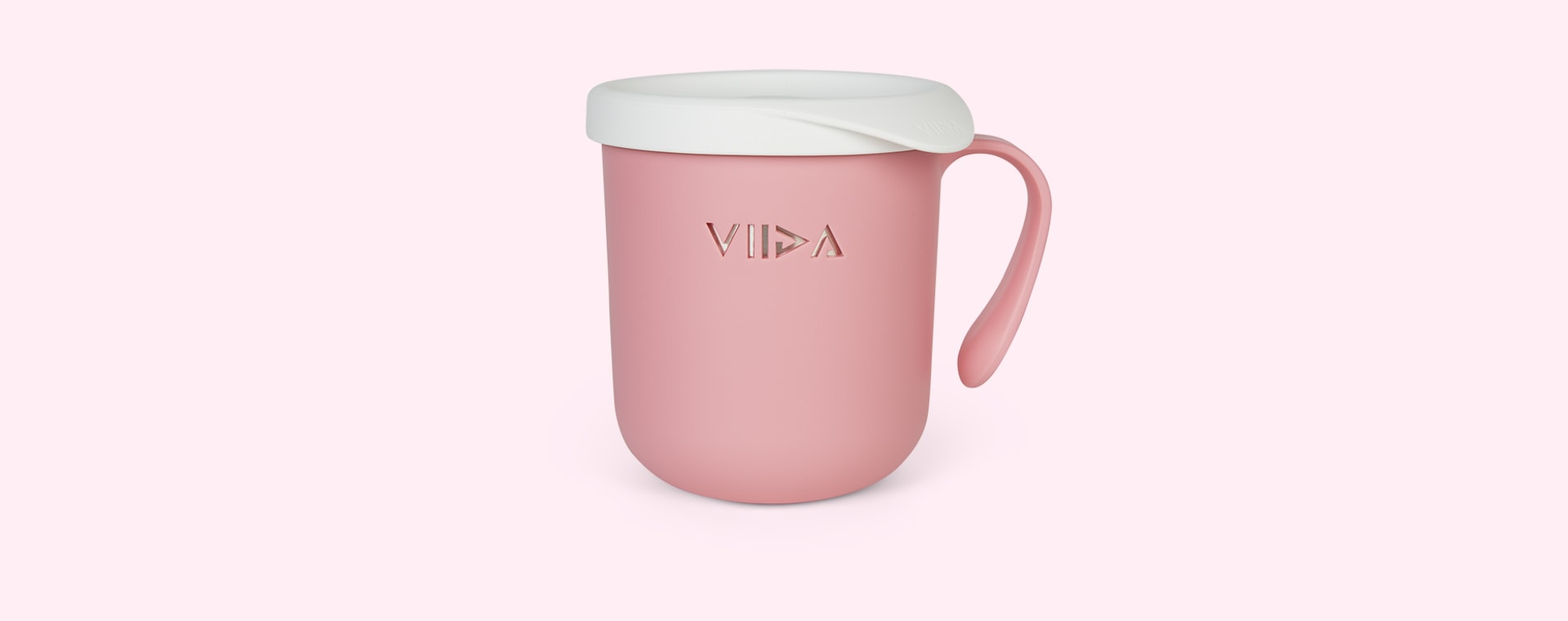 Taffy Pink VIIDA Soufflé Antibacterial Stainless Steel Cup