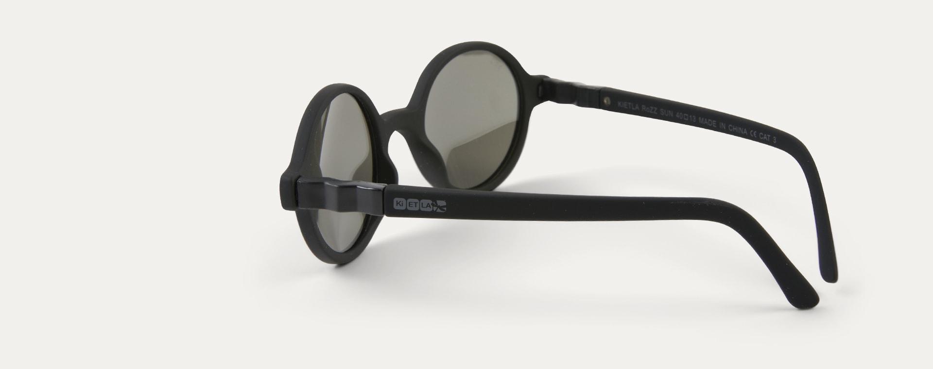 Black Ki ET LA Crazyg-zag ROZZ Round Sunglasses