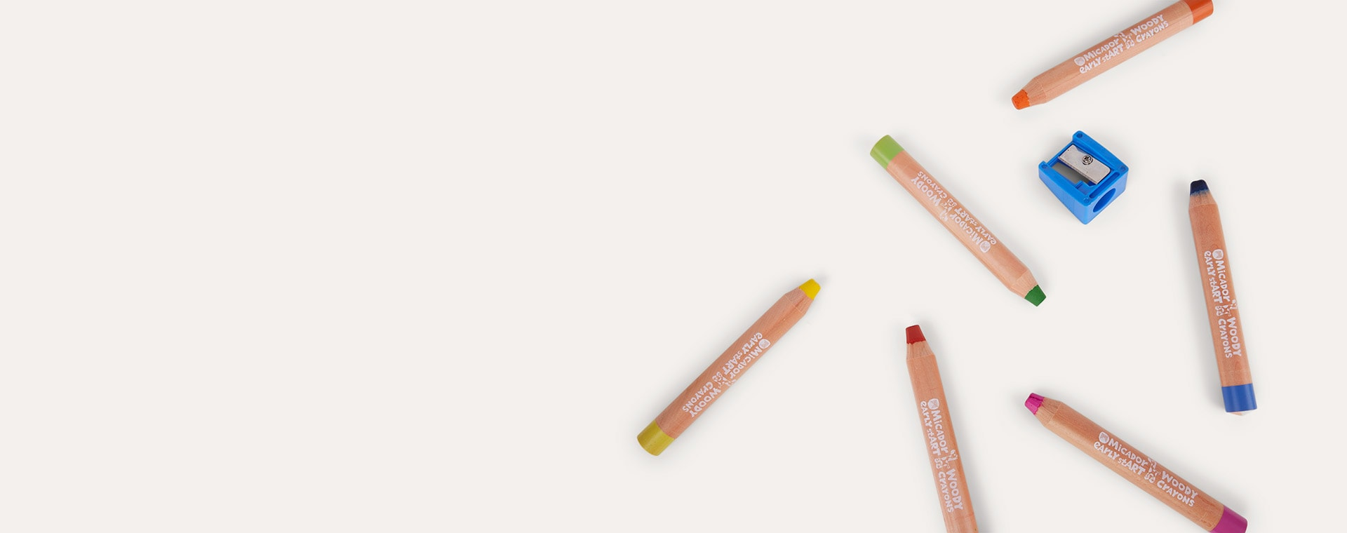 Multi Micador Early stART Woody Crayons 6 Pack
