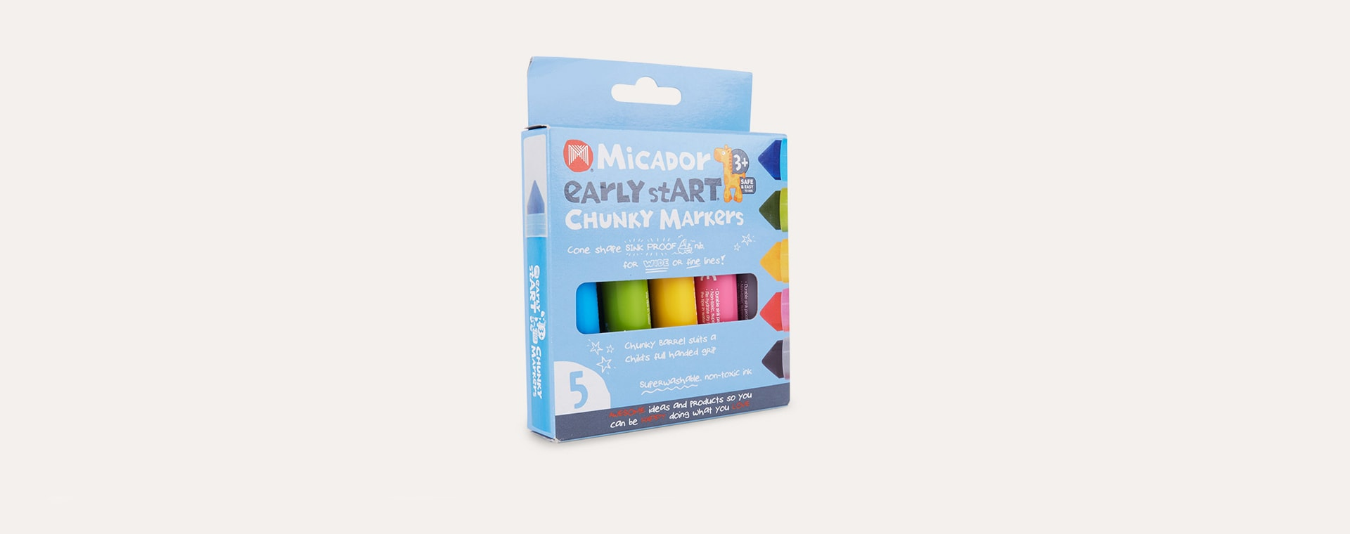 Multi Micador Early stART Chunky Markers 5 Pack