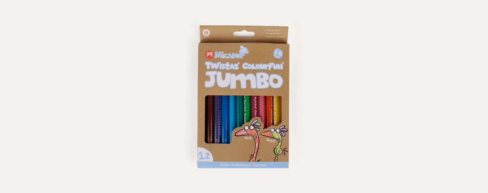 Multi Micador Micador Junior Twistaz Jumbo Crayons 12 Pack