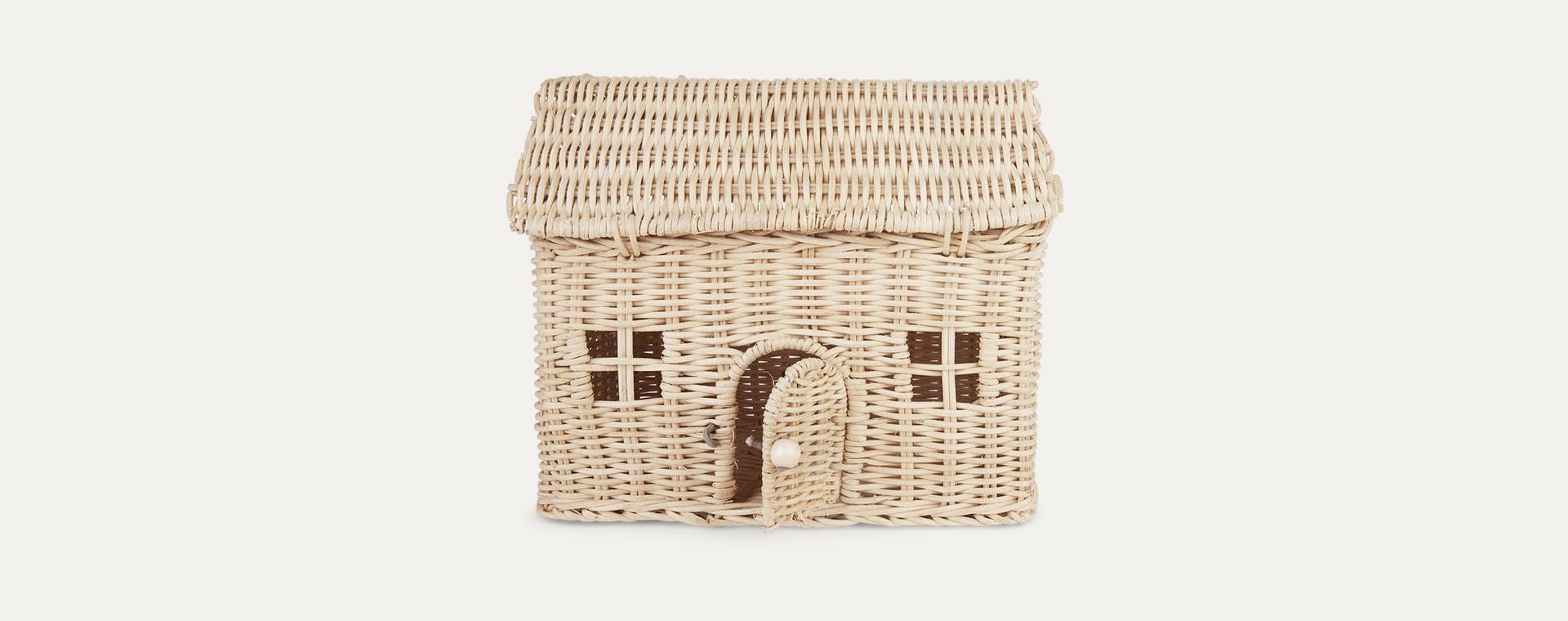 Straw Olli Ella Casa Clutch Bag