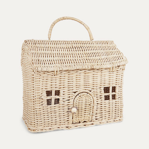 Straw Olli Ella Casa Clutch Bag