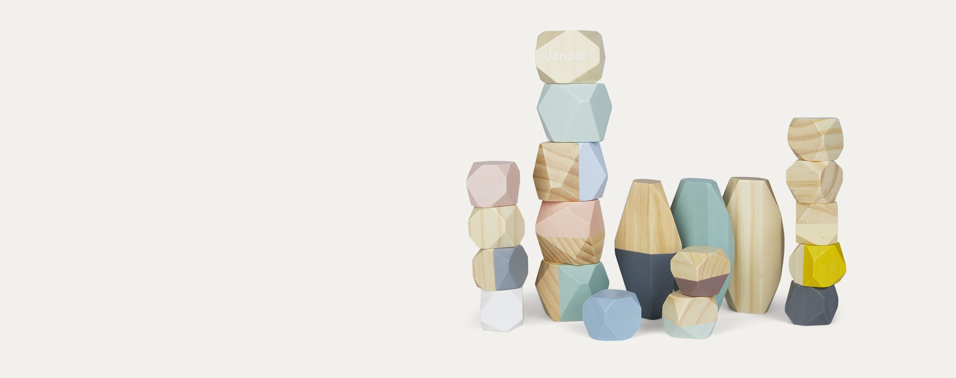 Multi Janod Sweet Cocoon Stacking Stones