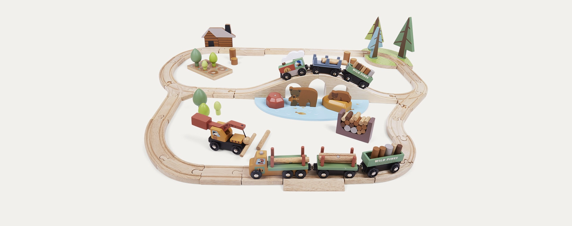 Multi Tender Leaf Toys Wild Pines Train Set