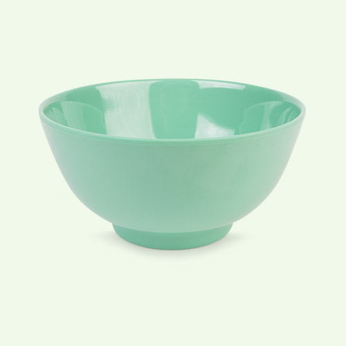Emerald Green Rice Melamine Bowl