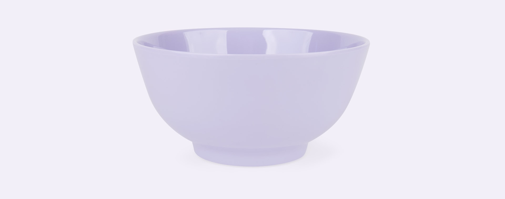 Soft Lavender Rice Melamine Bowl