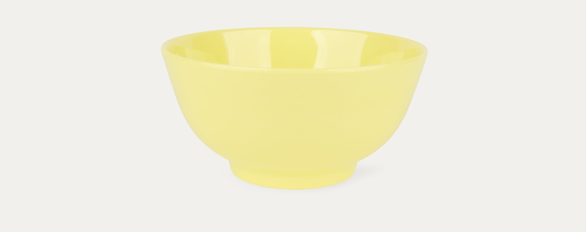 Soft Yellow Rice Melamine Bowl