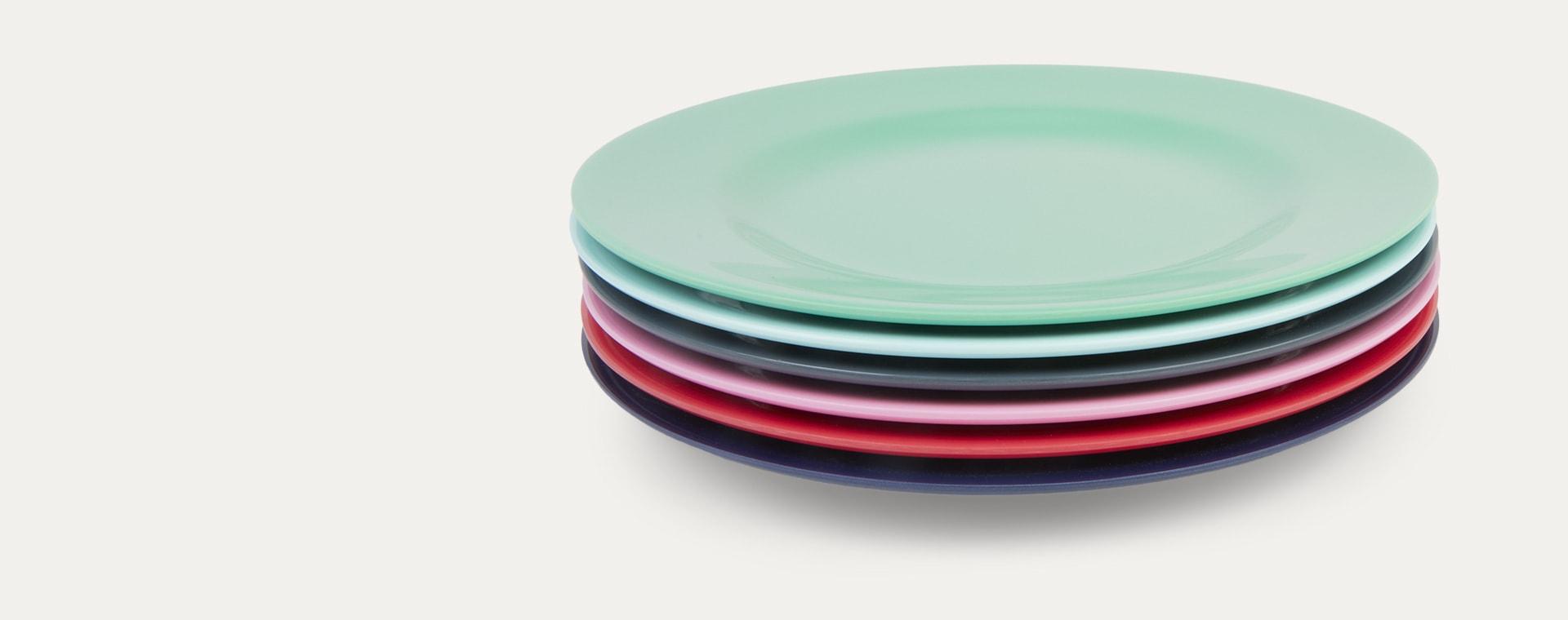 Ice Blue Rice Melamine Plate