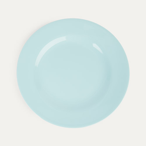 Ice Blue Rice Melamine Plate