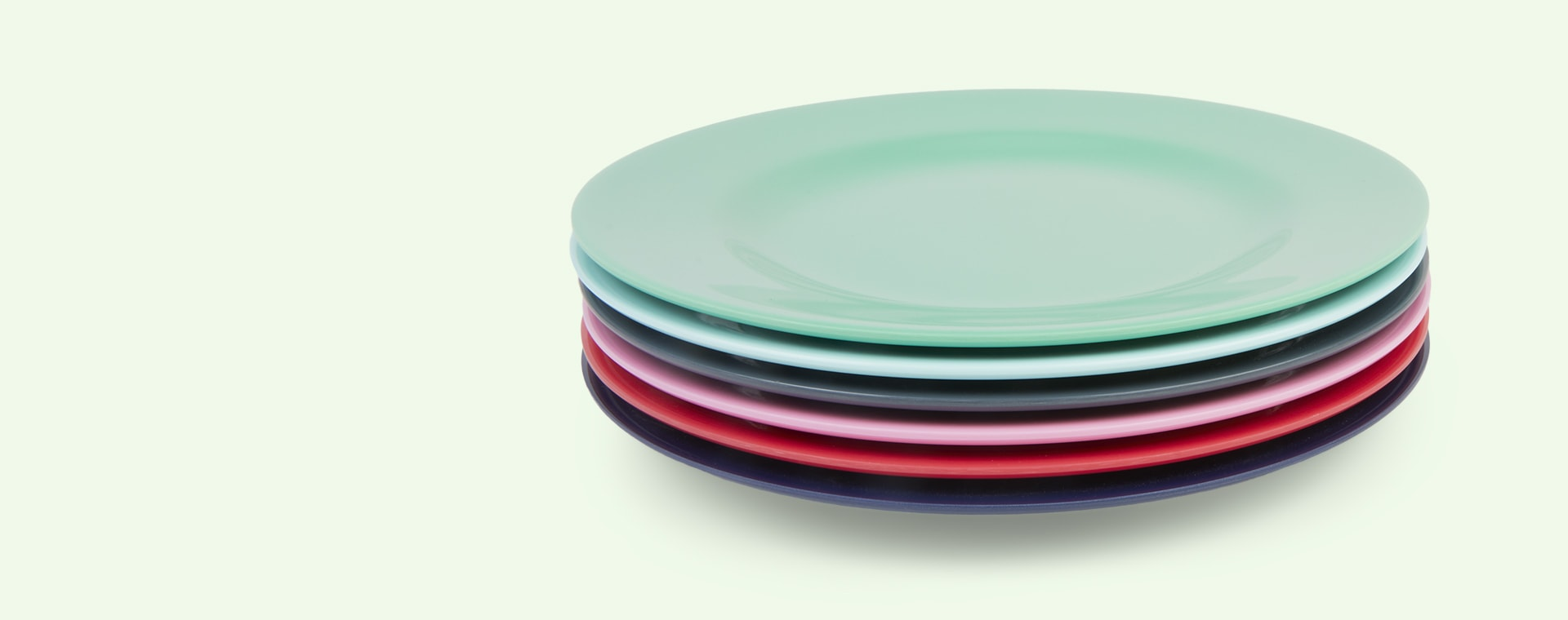 Emerald Green Rice Melamine Plate