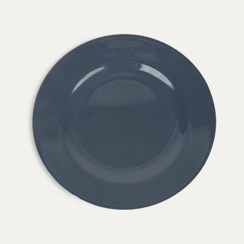 Dark Grey Rice Melamine Plate