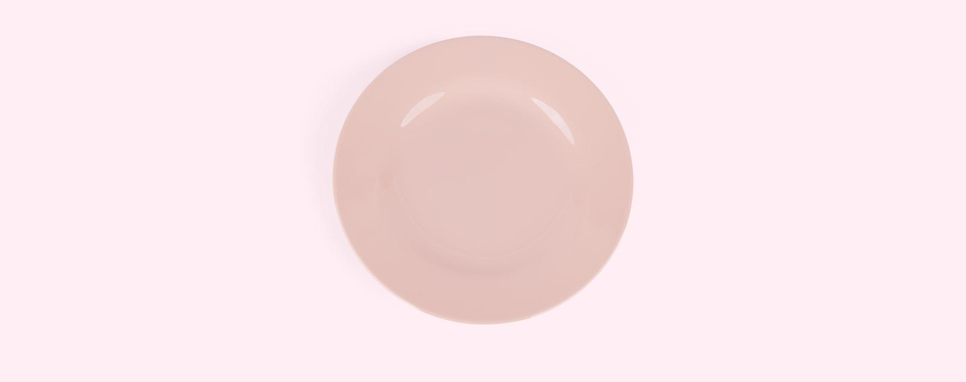 Pink Rice Melamine Plate