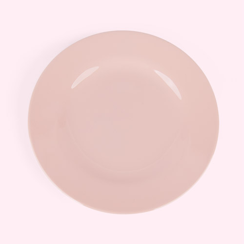Pink Rice Melamine Plate