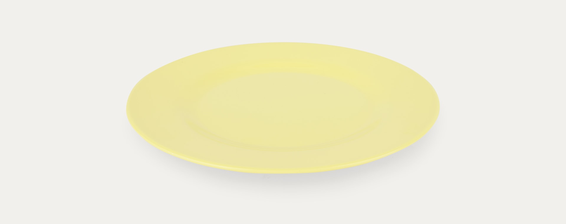 Soft Yellow Rice Melamine Plate