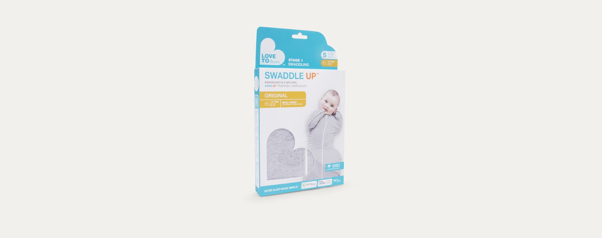 Grey Love To Dream Swaddle Up Original 1.0 Tog Sleeping Bag