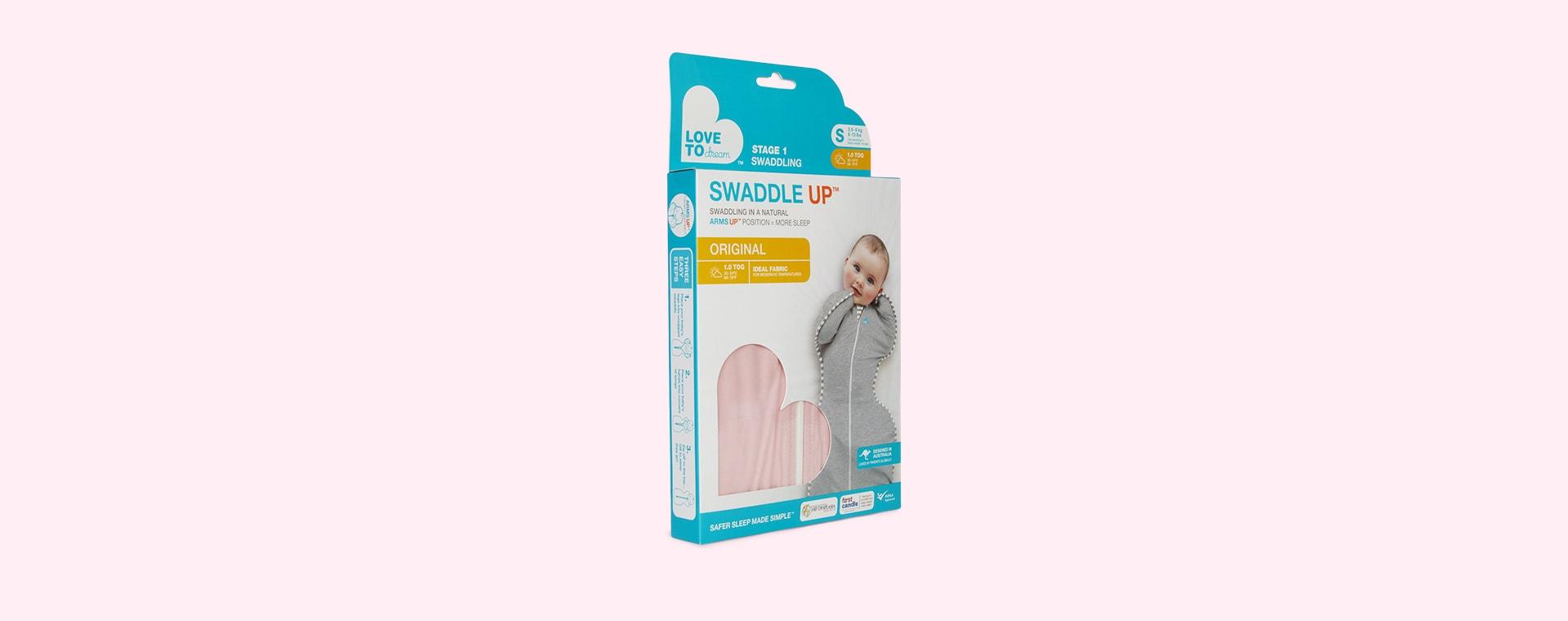 Pink Love To Dream Swaddle Up Original 1.0 Tog Sleeping Bag