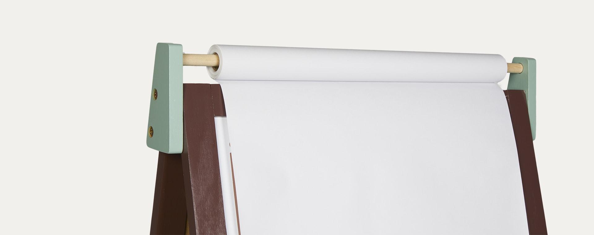 Burgundy/Green Janod Adjustable Easel