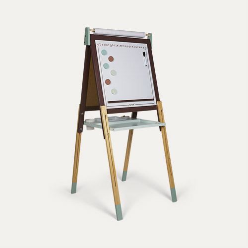Burgundy/Green Janod Adjustable Easel