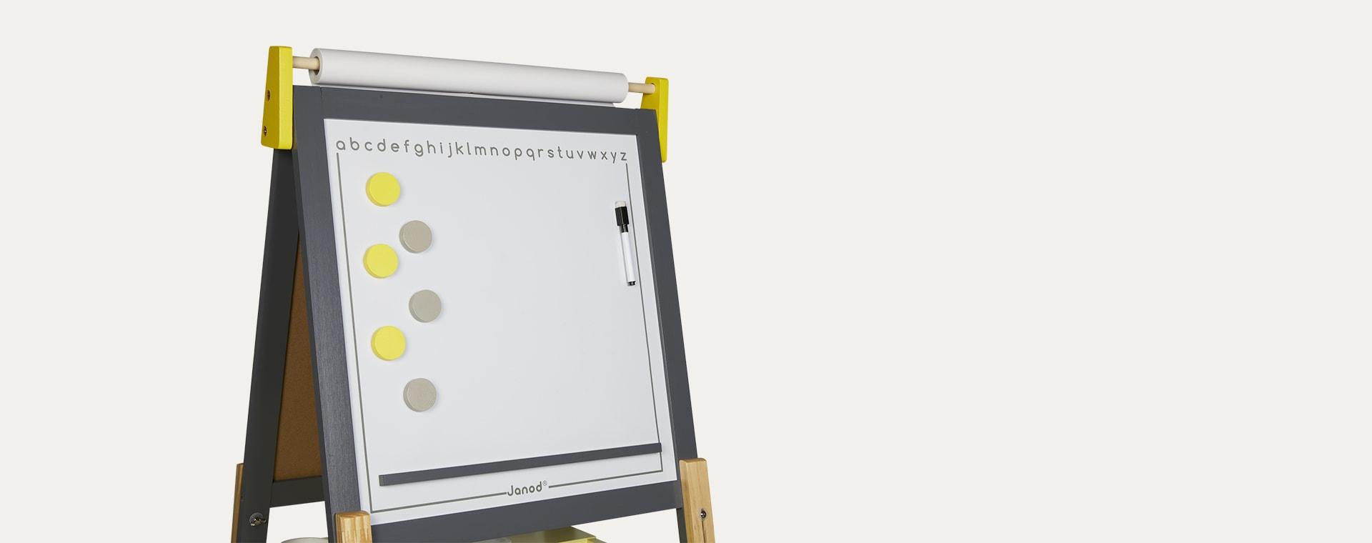 Grey/Yellow Janod Adjustable Easel