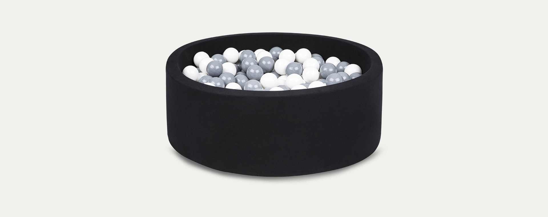 Grey/White Balls Larisa and Pumpkin Organic Cotton Ball Pit