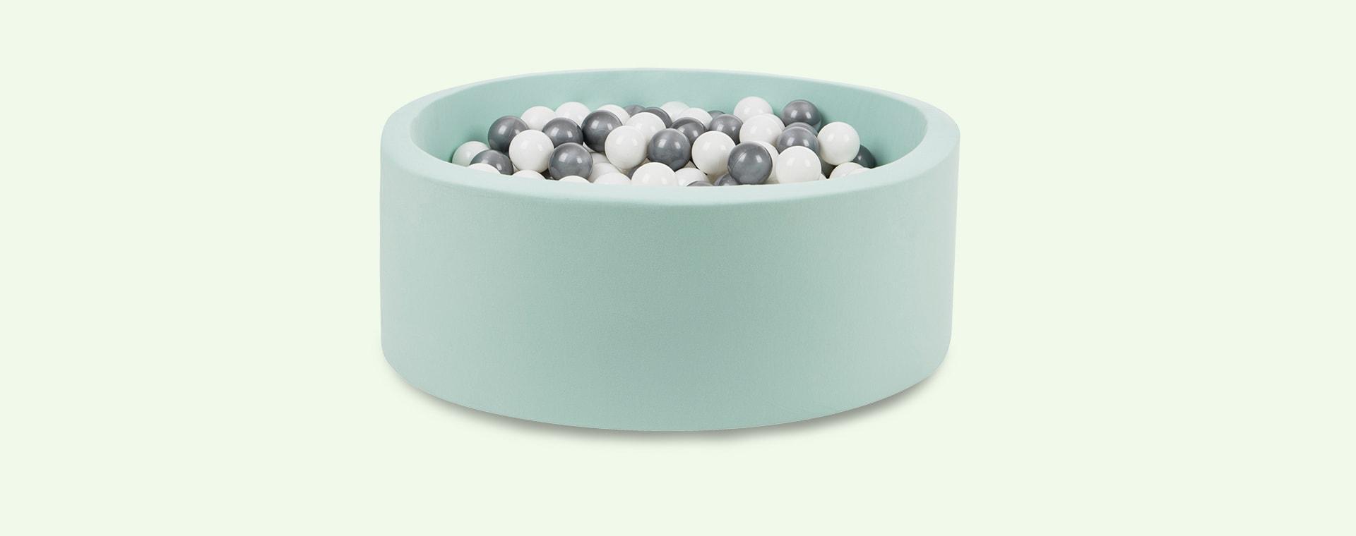 Silver/White Balls Larisa and Pumpkin Organic Cotton Ball Pit