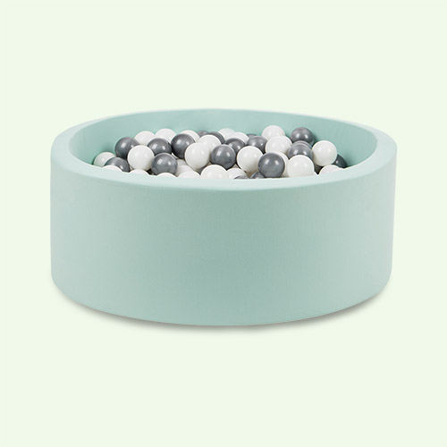 Silver/White Balls Larisa and Pumpkin Organic Cotton Ball Pit