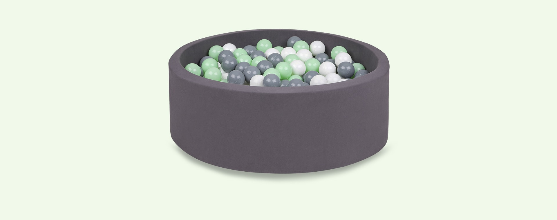 Grey/Mint/White Balls Larisa and Pumpkin Organic Cotton Ball Pit